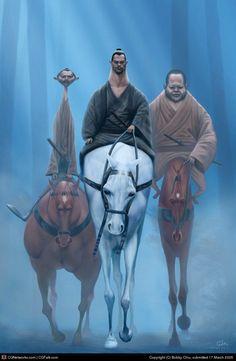 Tres jinetes por Bobby Chiu - + tutorial - Taringa!