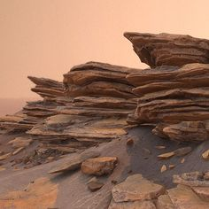 Martian Rocks, Daniel Castillo Calvo on ArtStation at… Desert Environment, Environment Concept, Environment Design, Landscape Concept, Fantasy Landscape, Formations Rocheuses, Foto 3d, Dry Stone, 3d Texture