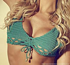 17 Ideas for crochet bikini scheme Beanie Pattern Free, Crochet Headband Pattern, Vest Pattern, Crochet Shawl Free, Easy Crochet, Crochet Top, Bikini Crochet, Bikinis, Swimwear