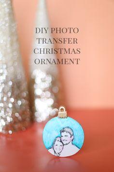 DIY Transfer Christmas Ornament Photo Gifts