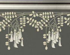stencil: black locust flowers