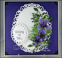 Nancy's Niceities - Sympathy Card using Memory Box and Spellbinder dies.