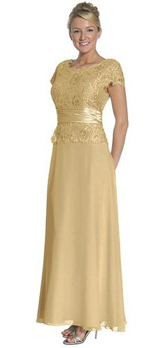 Silver Mother of the Bride/Groom Dress Evening Chiffon Cap Sleeve (5 Colors Available)