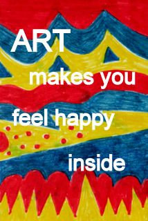 The mood that an art experience creates inside a child is so important. Feeling happy is one of those moods.