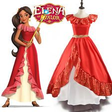 Adult Women Elena of Avalor Princess Elena Cosplay Costume Halloween Fancy Dress