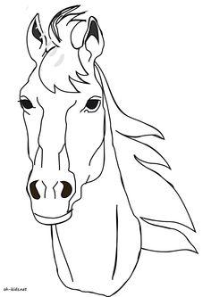 Dessin de tête de cheval à colorier - image #1113
