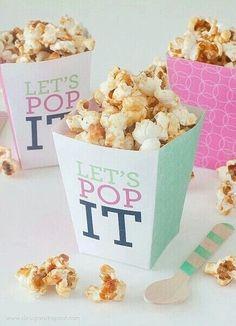 Que diriez vous des popcorns avec un pot si mignon