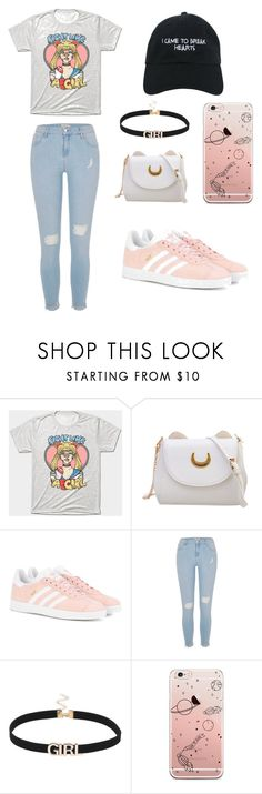 """""""⚡️Girl Power!⚡️"""" by adelaide1101 ❤ liked on Polyvore featuring adidas Originals, River Island and Nasaseasons"""