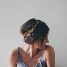 easy and quick braided updo