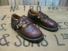 Doc Marten shoes Babydoll 2 strap   Mary Janes  by funkomavintage, $34.00