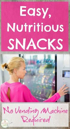 Healthy snacks for busy days!