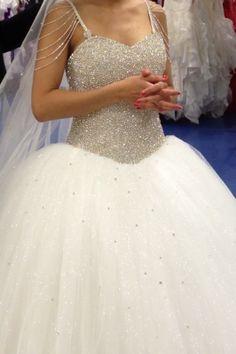 Robe de mariée Strass et  Paillettes d'occasion - Moselle