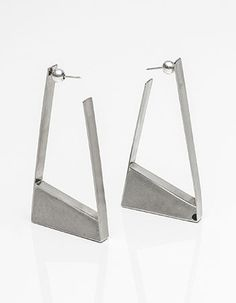 Stainless/Cement Earrings