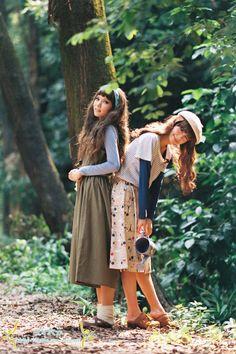 Mori spams and Mori inspirations for Everyone. Mori Mode, Lolita Mode, Kei Visual, Mori Girl Fashion, Forest Girl, Japanese Fashion, Cosplay, Rock, Asian Girl