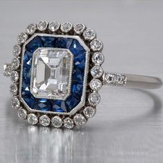 Emerald-cut Diamond Art Deco Style