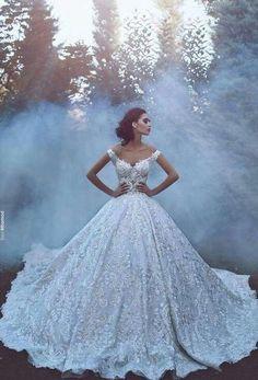 dress, wedding, and bride