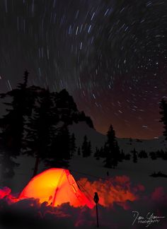 Winter camping in the Pacific Northwest