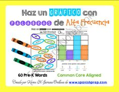 Graphing Spanish Pre-Kinder High Frequency Words from KarenSaravia on TeachersNotebook.com -  (22 pages)  - Graphing Spanish Pre-Kinder High Frequency Words