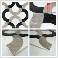 White and Black Laminated Water-jet Marble Foshan Moreroom Stone Co.,Ltd  Aggie Chan  Tel:86-13923220432  Email:sals04@moreroomstone.com