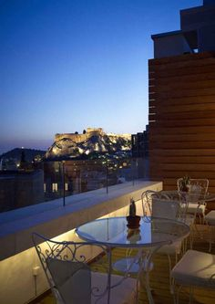 View onto the Acropolis Hill from the New Hotel Athens, Greece www.mediteranique.com/hotels-greece/athens/new-hotel/