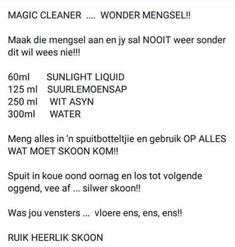 Tips, Afrikaans, Household, Hacks, Cleaning, Home Cleaning, Counseling