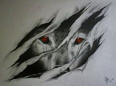 This wouldn't be a bad tattoo. Like the wolf is clawing its way out of ur body maybe