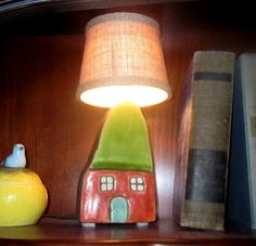 "Petite ""Home Sweet Home"" Lamp with Drum Shade"