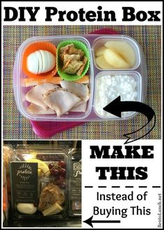 "Save money by making your own Starbucks-inspired protein bistro box! ""Savebucks"" Protein Bistro Box {Inspired by Starbucks} Lunch Meal Prep, Healthy Meal Prep, Healthy Snacks, Healthy Eating, Healthy Recipes, High Protein Snacks On The Go, Detox Recipes, High Protein Foods, High Protein Meal Plan"