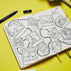 Bullet Journal Travel, Bullet Journal Cover Ideas, Bullet Journal Notebook, Bullet Journal Spread, Bullet Journal Inspiration, Scrapbook Journal, Travel Scrapbook, Bullet Art, Journal Themes