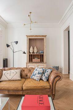 Современный дизайн с винтажным декором в Мадриде | Пуфик - блог о дизайне интерьера