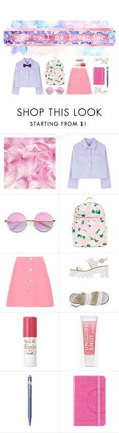 """You call me lavender, you call me sunshine"" by clampigirl ❤ liked on Polyvore featuring ZeroUV, Miu Miu, Windsor Smith, Lipsy, Caran d'Ache and Tommy Hilfiger"