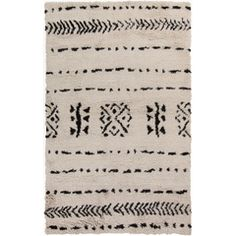Denali Black & Ivory Rug design by Surya Hand Knotted Rugs, Hand Weaving, Southwestern Area Rugs, Thing 1, Textiles, My Living Room, Living Spaces, Wool Area Rugs, Wool Rugs