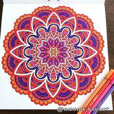 Kleuren voor volwassenen, colouring for adults, coloriage, mandala, artist, stabilo, het derde enige echte mandalakleurboek voor volwassenen