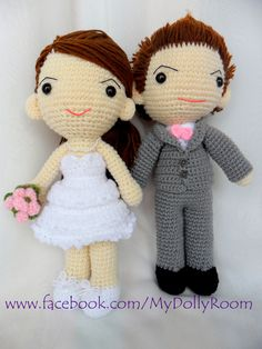 Wedding dolls. Crochet dolls. Pinterest Wedding doll ...