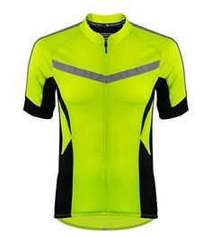 Mens Pace Cycling Jersey 3 Color Options Large Safety Yellow   Learn more  by visiting the 418f87995