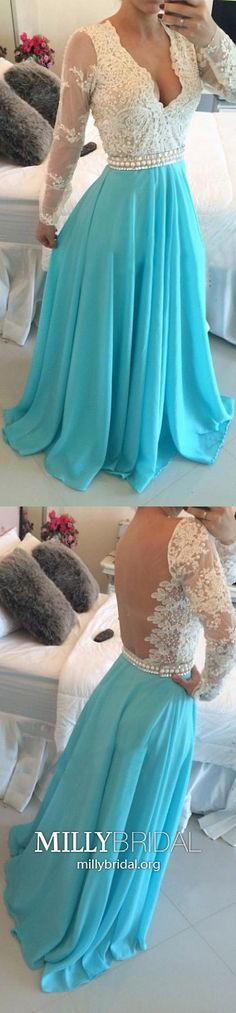 Long Sleeve Prom Dresses Blue,Long Formal Evening Dresses with Sleeves,A-line Military Ball Dresses V-neck,Chiffon Wedding Party Dresses with Lace Modest Formal Dresses, Sparkly Prom Dresses, Open Back Prom Dresses, Simple Prom Dress, Formal Dresses For Teens, Prom Dresses Long With Sleeves, Prom Dresses With Sleeves, Backless Prom Dresses, A Line Prom Dresses