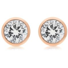 Michael Kors Earrings Brilliance Metal and Crystal Stud Earrings ($85) ❤ liked on Polyvore featuring jewelry, earrings, rose gold, michael kors earrings, round stud earrings, michael kors, sparkly earrings und earrings jewelry