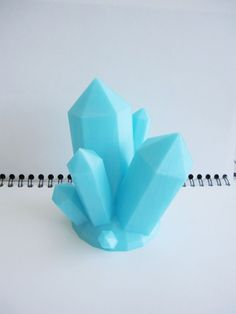 3d Printed Crystal Quartz Cluster Geode Geometric Sculpture Jewelry Desk 3d Print Geek Gift 3d printing 3-d art modern office holder organiz by Proton3D on Etsy