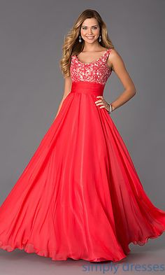 Dresses, Formal, Prom Dresses, Evening Wear: Long Scoop Neck Formal Dress by Alyce
