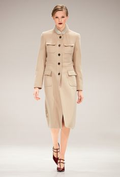 Escada F/W 2017 RTW: Again, nice tailoring by Escada, this time applied to a simple but chic coat.