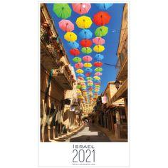 2021 Israel Wall Calendar - 9.5x17.25 inch
