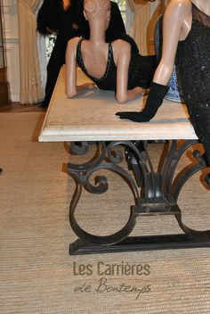 Paris : we have provided also for the stone of the display tables..#french #stoneflooring #anticstone #design  #frenchstone #castle #french #limestone #beige #table