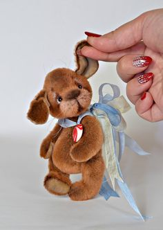 Best 12 Tiny baby waldorf doll with miniature outfit and miniature stroller. Small Teddy Bears, Cute Teddy Bears, Miniature Rabbits, Memory Crafts, Teddy Toys, Unique Toys, Crochet Teddy, Cute Toys, Dollhouse Dolls