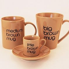 I'm Such a Sucker For Mugs. Large Brown Mug- Love This ♥
