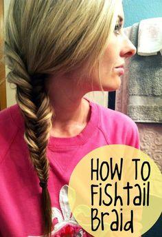 Hair tips and ideas :DIY Braided Hair: How To Fishtail Braid