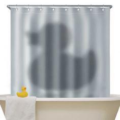 Cień kaczki - zasłonka pod prysznic