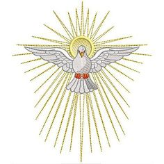 Première Communion, First Holy Communion, Holly Spirit, Dove Drawing, Altar Cloth, Christian Symbols, Church Banners, Gold Work, Kirchen