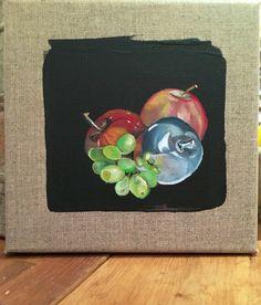 Silver apple (silver fruit series) by JJHowardFineArt on Etsy