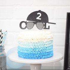 Two Cool Cake Topper for birthday – birthday cake topper - Birthday Cake Blue Ideen 2 Year Old Birthday Cake, 2nd Birthday Party For Boys, Little Man Birthday, Second Birthday Ideas, 2nd Birthday Photos, 70th Birthday, Birthday Images, Birthday Gifts, Happy Birthday