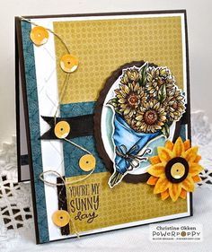 Sunny Harvest Stamp Set -- Stamps by Power Poppy, Card Design by Christine Okken!